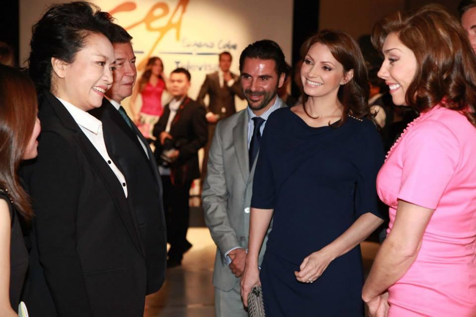 Primera Dama de China y Angélica Rivera en Televisa-actrices