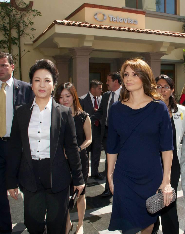 Primera Dama de China y Angélica Rivera en Televisa-visitas